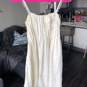 Dresses & Skirts - Ivory/cream sundress with floral detail & beading